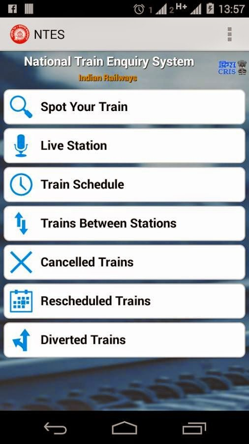 Mobile Apps For the Train Enquiry