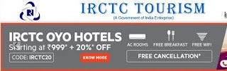 IRCTC OYO Hotels : Special Offer