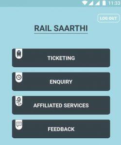 Rail Saarathi Mobile Application