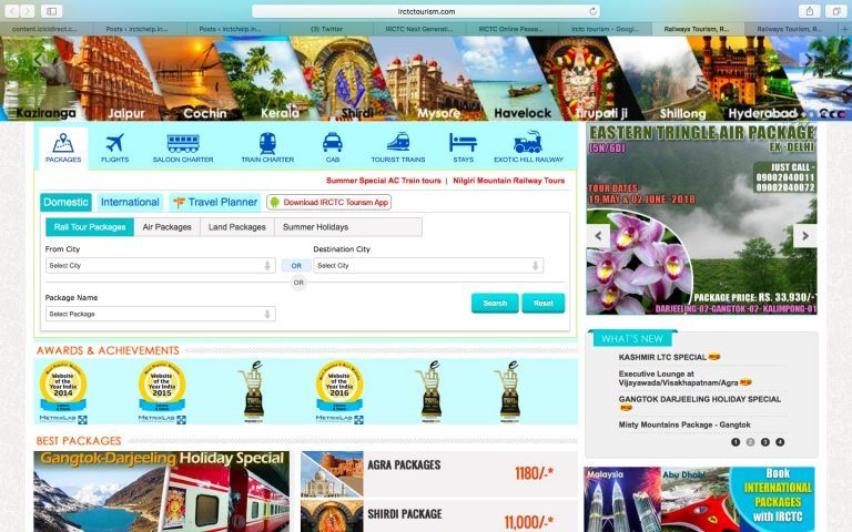 Tour Packages by IRCTC Tourism