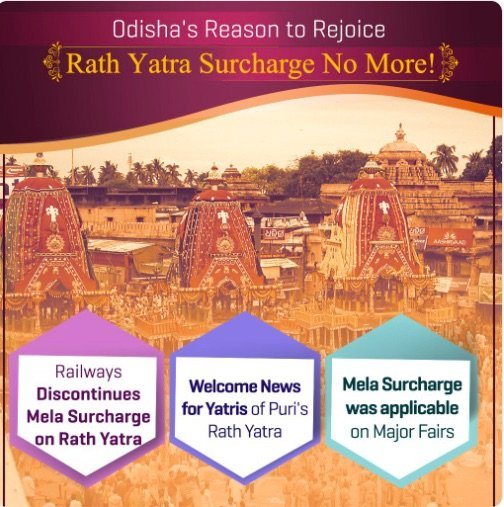 Rath Yatra : Railway withdraws Mela Surcharge