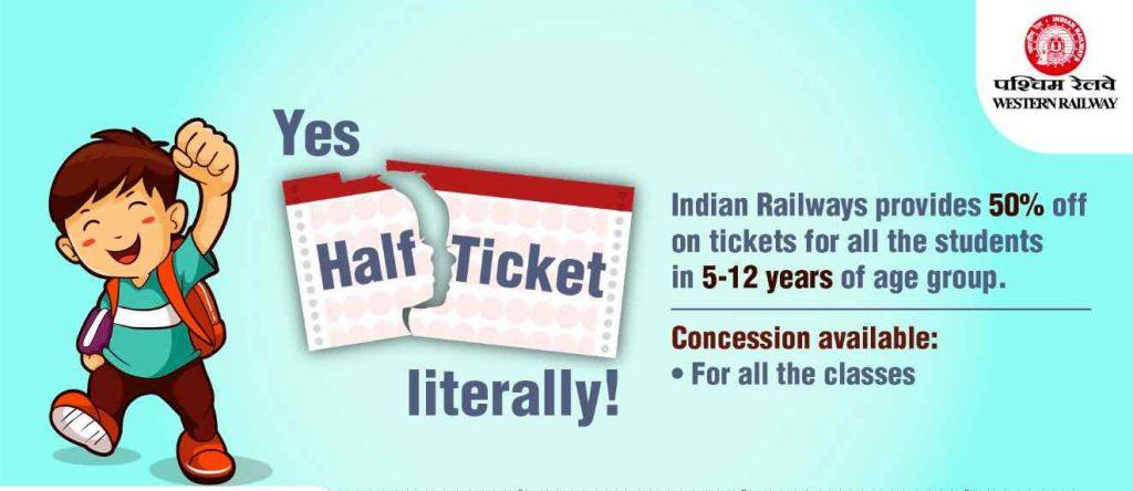 Child Ticket Fare in Trains