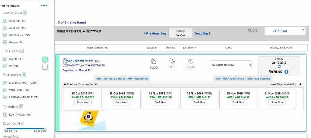 IRCTC E-Ticket Booking Methods