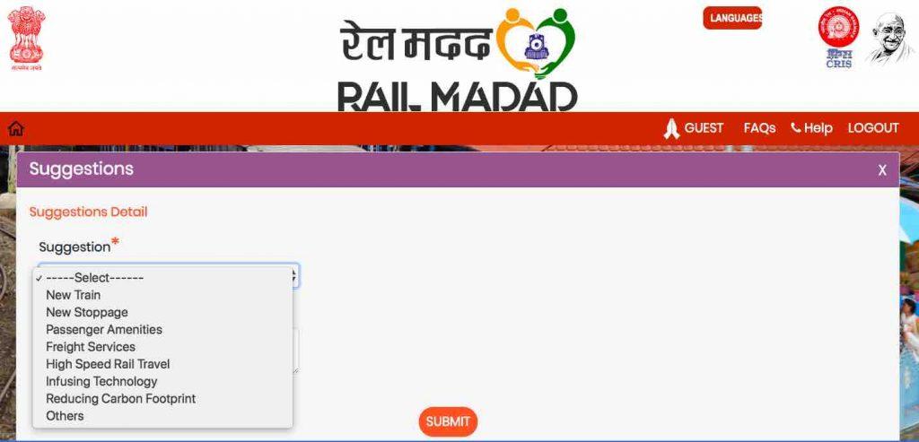 Rail Madad : Lodge Suggestion