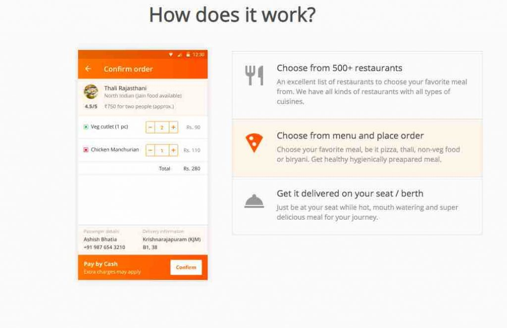 IRCTC Fast Food Service in Trains and Stations