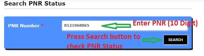 PNR Status Check Steps