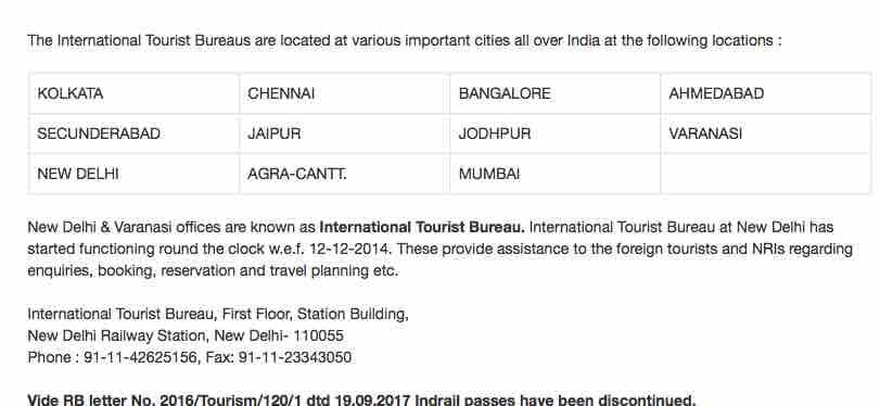 International Tourist Bureaus by Railway