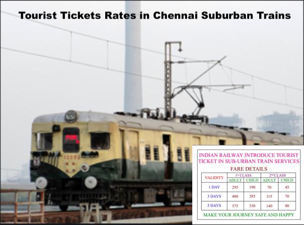 Tourist Tickets Rates in Chennai Suburban
