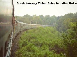 Break Journey Ticket Rules in Indian Railway