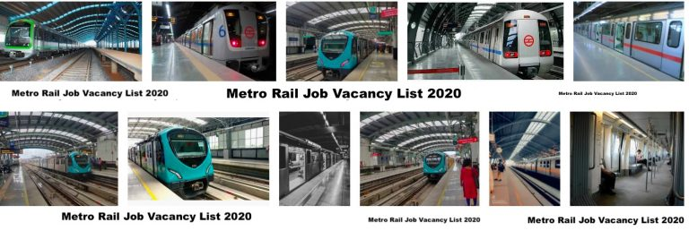 Metro Rail Job Vacancy List 2020