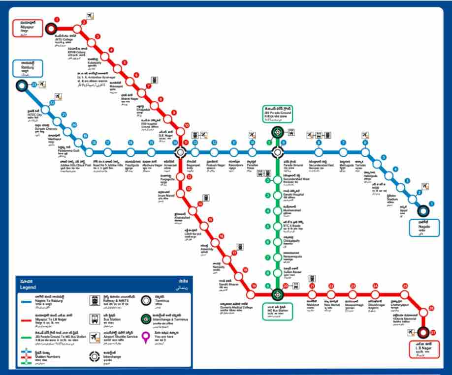 Route Map - Hyderabad Metro