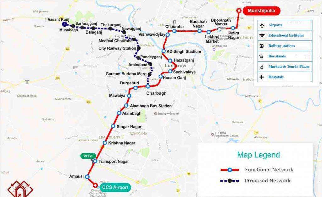 Nagpur Metro Stations ~ Route Map