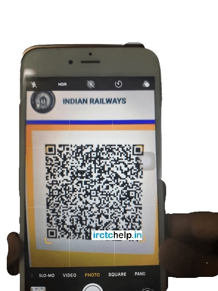 Indian Rail or IRCTC QR code for Train Ticket