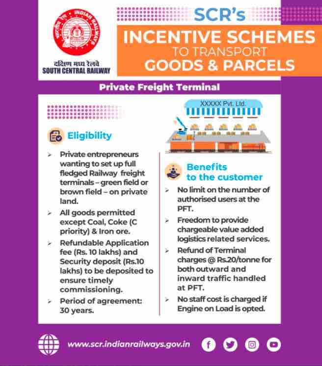 New Incentive Schemes To Transport by Railway