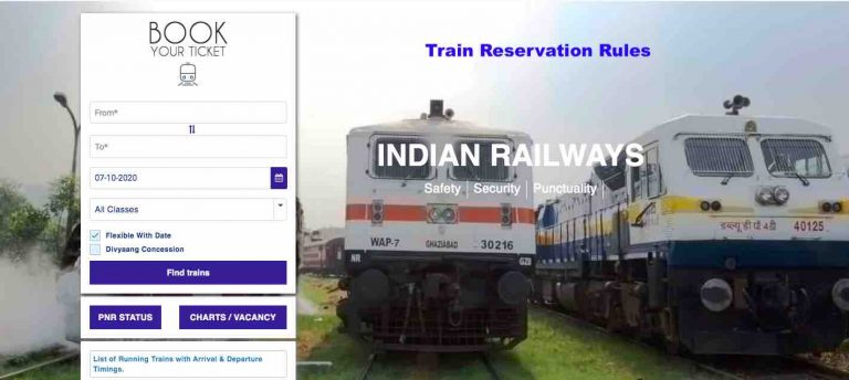 Railway Reservation Rules