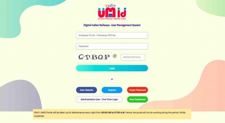 Umid : Unique Medical Identity Card by Railway