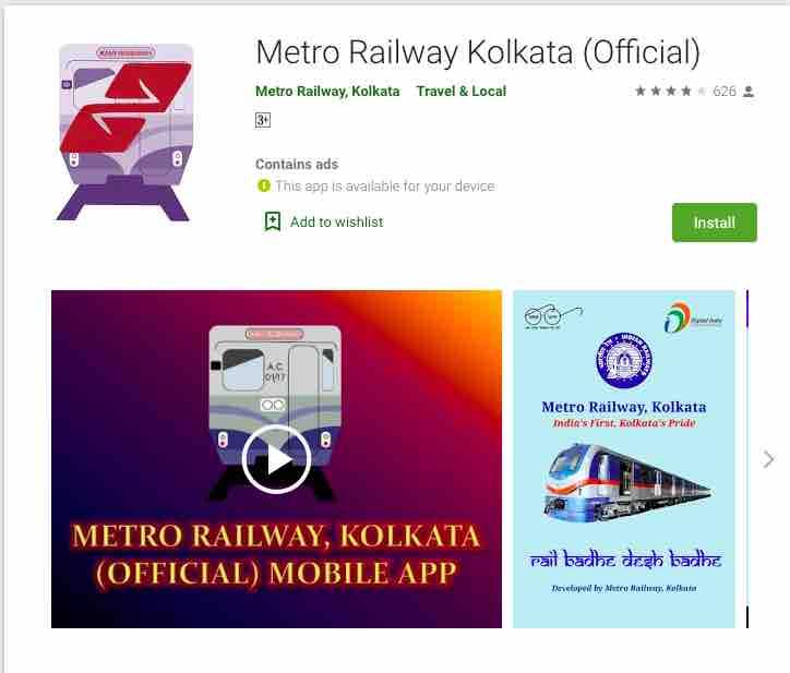 Kolkata Metro Mobile App