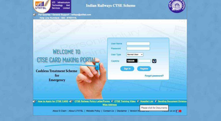 CTSE Scheme for Retired Railway Employees