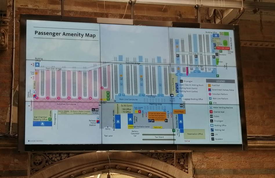 Mumbai : Digital passenger Amenity Maps at Railway Stations