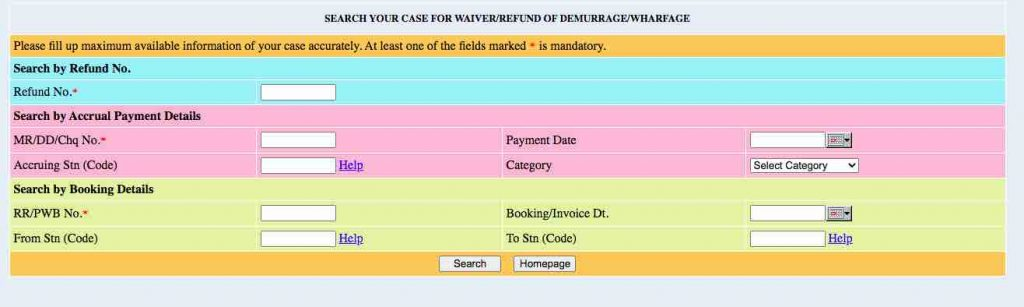 SEARCH YOUR CASE FOR WAIVER/REFUND OF DEMURRAGE/WHARFAGE